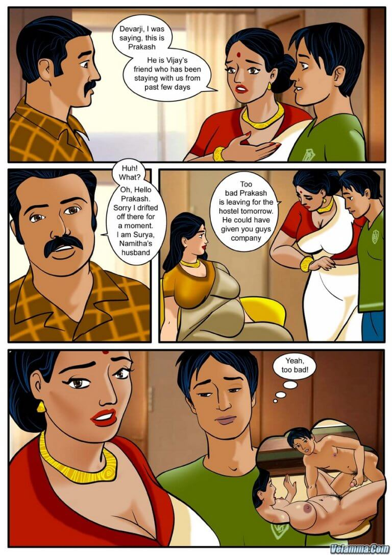 Velamma - Episode 3 - How far would you go for your family? - Panel 003